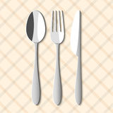 Spoon,fork and knife Stock Photography