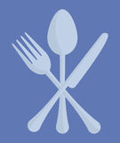 Spoon fork knife cutlery emblem image. Illustration design Royalty Free Stock Photography