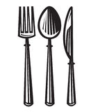 Spoon, fork and knife Royalty Free Stock Photo
