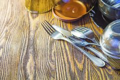 Spoon fork and knife and utensils Stock Images
