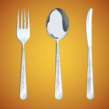 Spoon,fork and knife. Royalty Free Stock Images