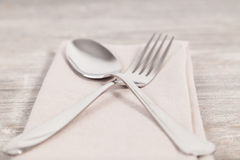 Spoon and fork Royalty Free Stock Image