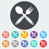 Spoon, fork. Stock Image