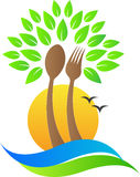 Spoon fork tree. A vector drawing represents spoon fork tree design vector illustration