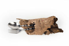 Spoon fork wood Royalty Free Stock Photography