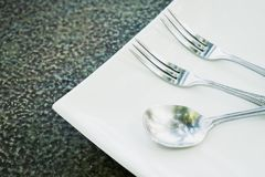 Spoon and forks Stock Image