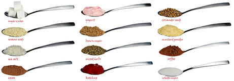 A spoon full Stock Photography