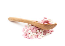 Spoon full of sprinkles isolated Stock Photography