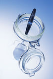 Spoon in Glass Jar Royalty Free Stock Image