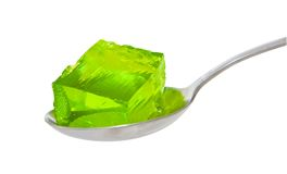Spoon of green jelly Royalty Free Stock Photos