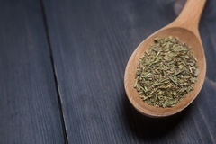 Spoon of green spice Stock Photo
