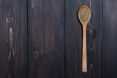 Spoon of green spice Royalty Free Stock Image