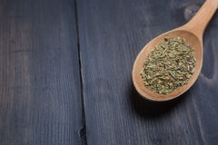 Spoon of green spice Royalty Free Stock Photo