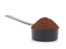 Spoon of ground espresso Stock Image