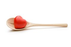 Spoon and heart Royalty Free Stock Photo