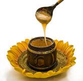 Spoon of honey Royalty Free Stock Image