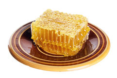 Spoon with honeycomb Stock Photography
