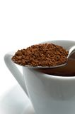 Spoon with instant coffee Royalty Free Stock Image
