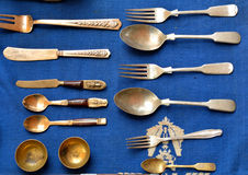Spoon Kitchen appliances. Photos used a spoon Kitchen appliances and accessories in the dining brazen. Sixty five years Classic and antique markets of Chiang Mai Stock Photos