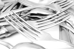 Spoon, knife and fork Stock Image
