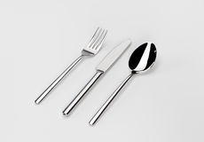 Spoon knife and fork Royalty Free Stock Photos