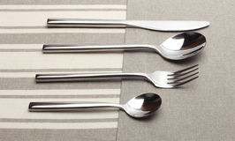 Spoon, knife and fork Stock Photo