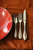 Spoon, knife, fork Stock Images