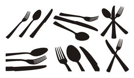 Spoon, knife, fork Stock Photography