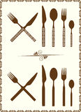 Spoon, knife and fork Royalty Free Stock Images