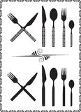 Spoon, knife and fork Royalty Free Stock Photo
