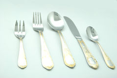 Spoon, knife and fork Royalty Free Stock Image