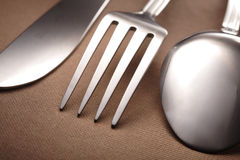 Spoon knife fork Stock Images