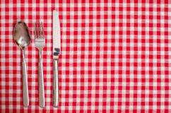 Spoon, knife and fork Royalty Free Stock Photos