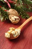 Spoon with kutia – traditional Christmas sweet meal Stock Photography