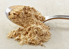Spoon of maca powder Stock Images