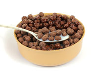 Spoon Milk Chocolate Cereal Stock Images