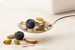 Spoon of muesli cereal Stock Image