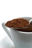 spoon natychmiastowa kawowa Obraz Royalty Free