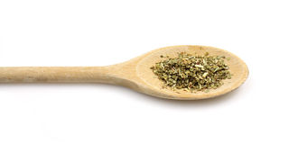 Spoon with oregano Royalty Free Stock Photos