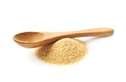 Spoon over pile of sugar Stock Photos