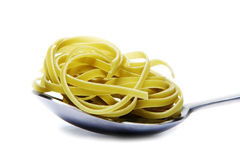 Spoon with Pasta Stock Image