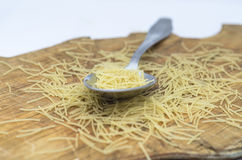 Spoon pasta Stock Photo