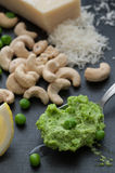 A Spoon Pea Pesto Stock Photography