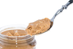 Spoon with Peanut Butter Stock Photography