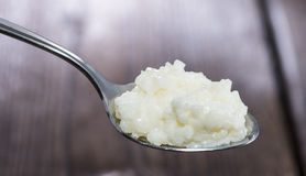 Spoon with Rice Pudding Royalty Free Stock Images