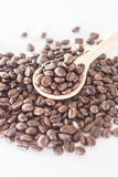 Spoon of roasted coffee bean Royalty Free Stock Photography