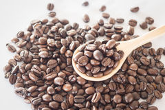 Spoon of roasted coffee bean Royalty Free Stock Photo