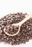 Spoon of roasted coffee bean Royalty Free Stock Image