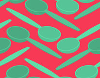 Spoon seamless pattern. Cutlery texture background ornament Royalty Free Stock Photo