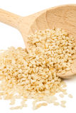 Spoon and sesame Royalty Free Stock Photo